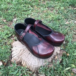 Dansko size 41 oxblood Mary Jane clogs